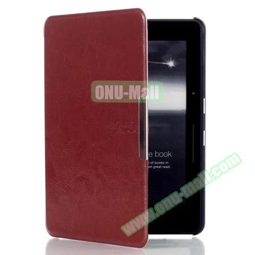 Crazy Horse Texture Flip PU Leather Case for Kindle Voyage (Coffee)