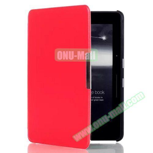 Karst Texture Flip PU Leather Case for Kindle Voyage (Red)