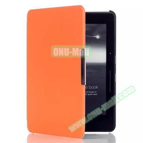 Karst Texture Flip PU Leather Case for Kindle Voyage (Orange)