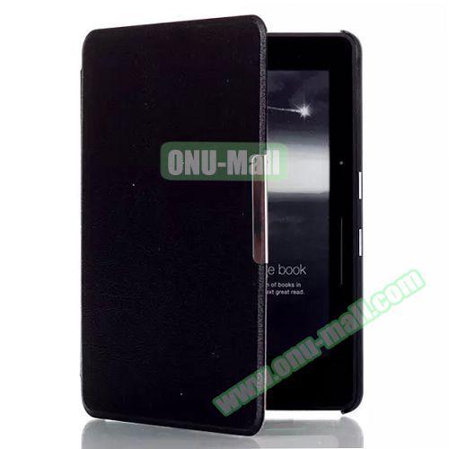 Karst Texture Flip PU Leather Case for Kindle Voyage (Black)
