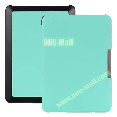 Snowflake Texture Side Flip Leather Case for New Kindle (Light Blue)
