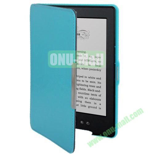 Crazy Horse Texture Leather Case for Amazon Kindle 5 (Blue)