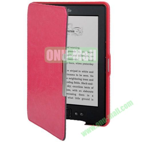 Crazy Horse Texture Leather Case for Amazon Kindle 5 (Rose)