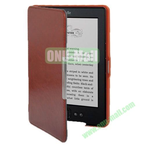 Crazy Horse Texture Leather Case for Amazon Kindle 5 (Brown)