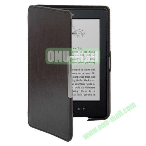 Crazy Horse Texture Leather Case for Amazon Kindle 5 (Grey)