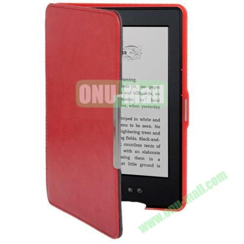 Crazy Horse Texture Leather Case for Amazon Kindle 5 (Red)