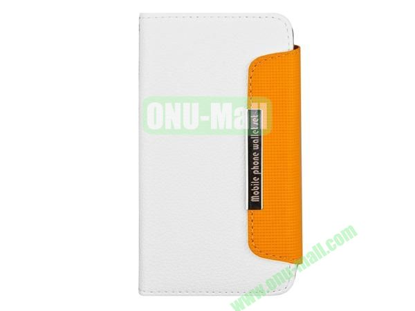 Wallet Style Litchi Lines Leather Case Cover for Sony Xperia ZL36h With Card Slots(White)