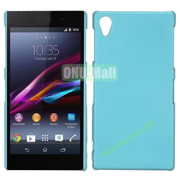 Frosted Oil Coated PC Hard Cases for Sony L39h Xperia Z1 (Light Blue)