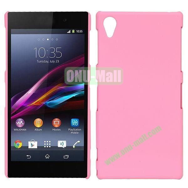 Frosted Oil Coated PC Hard Cases for Sony L39h Xperia Z1 (Pink)