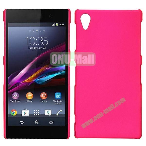 Frosted Oil Coated PC Hard Cases for Sony L39h Xperia Z1 (Rose)