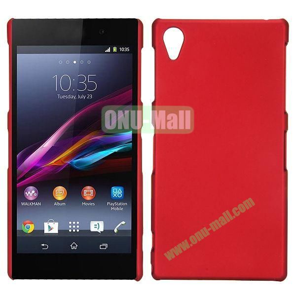 Frosted Oil Coated PC Hard Cases for Sony L39h Xperia Z1 (Red)