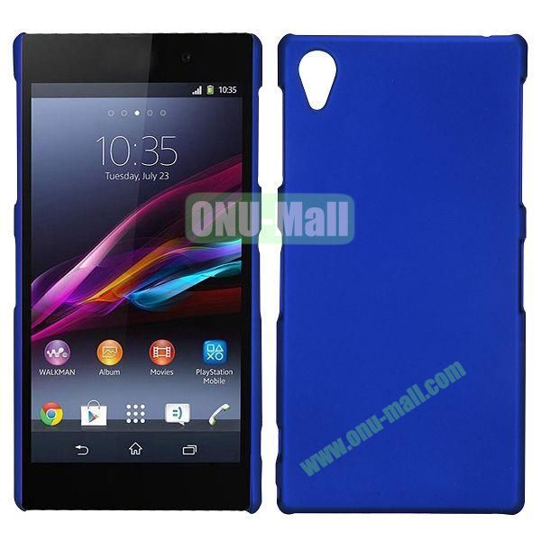 Frosted Oil Coated PC Hard Cases for Sony L39h Xperia Z1 (Dark Blue)