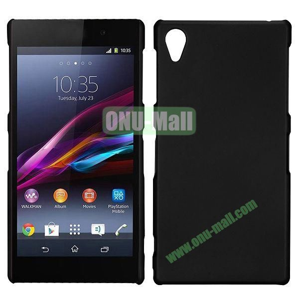 Frosted Oil Coated PC Hard Cases for Sony L39h Xperia Z1 (Black)