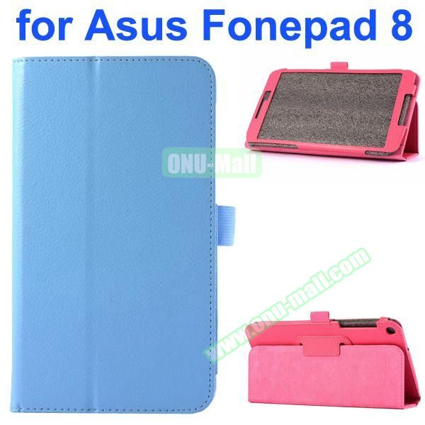 Litchi Texture Flip Leather Case for Asus Fonepad 8 FE380CG (Blue)