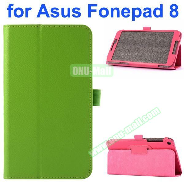 Litchi Texture Flip Leather Case for Asus Fonepad 8 FE380CG (Green)