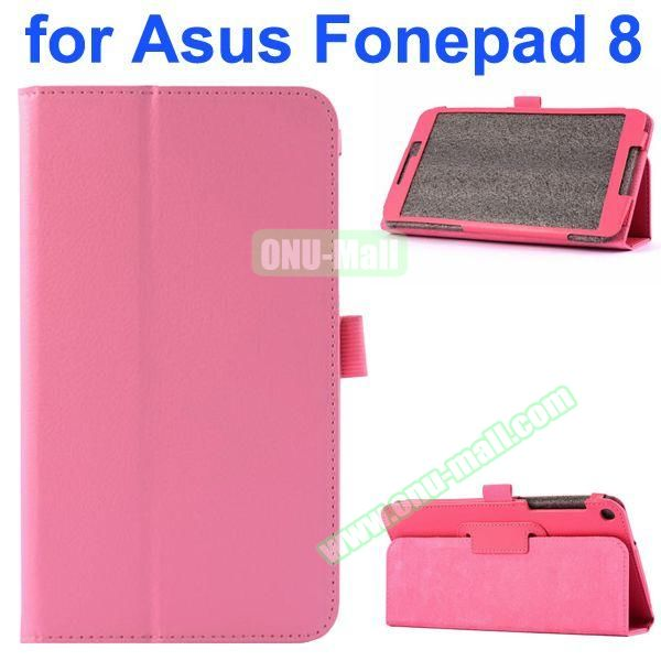 Litchi Texture Flip Leather Case for Asus Fonepad 8 FE380CG (Pink)