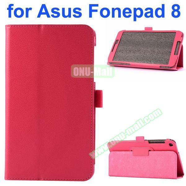 Litchi Texture Flip Leather Case for Asus Fonepad 8 FE380CG (Rose)