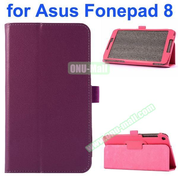 Litchi Texture Flip Leather Case for Asus Fonepad 8 FE380CG (Purple)