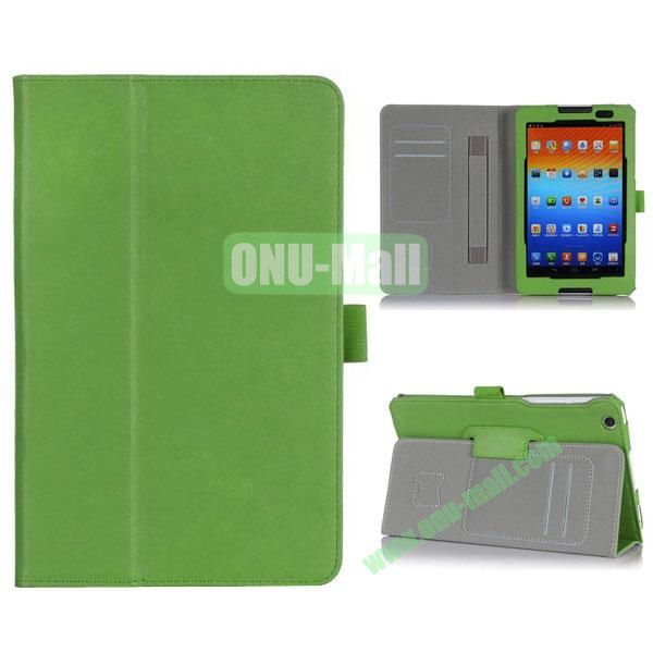 New Arrival Flip Stand PU Leather Case with Card Slots for Lenovo A8-50  A5500 (Green)
