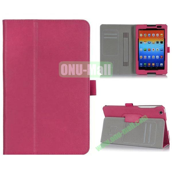 New Arrival Flip Stand PU Leather Case with Card Slots for Lenovo A8-50  A5500 (Rose)