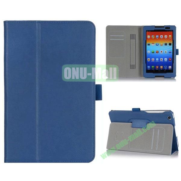 New Arrival Flip Stand PU Leather Case with Card Slots for Lenovo A8-50  A5500 (Dark Blue)