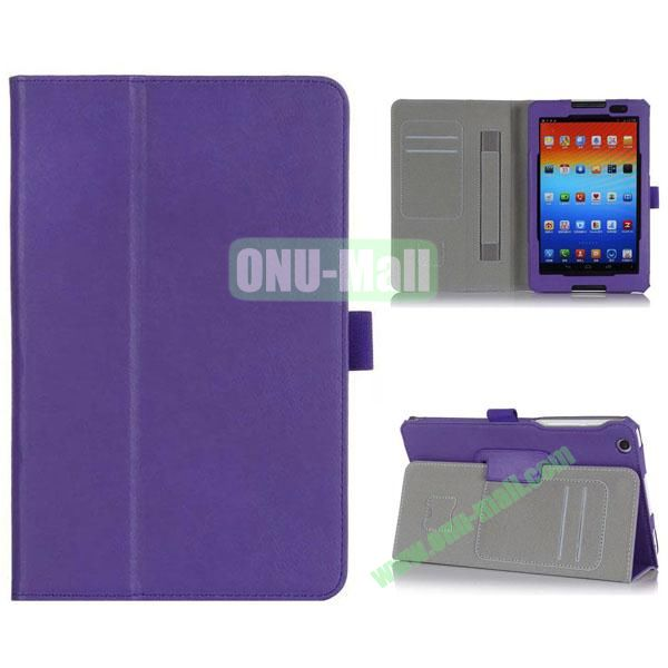 New Arrival Flip Stand PU Leather Case with Card Slots for Lenovo A8-50  A5500 (Purple)