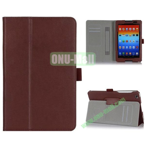 New Arrival Flip Stand PU Leather Case with Card Slots for Lenovo A8-50  A5500 (Brown)