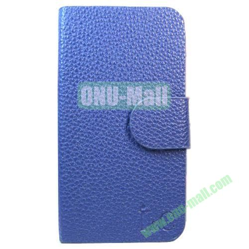 Litchi Texture Leather Case for Lenovo A706 with Holder (Blue)