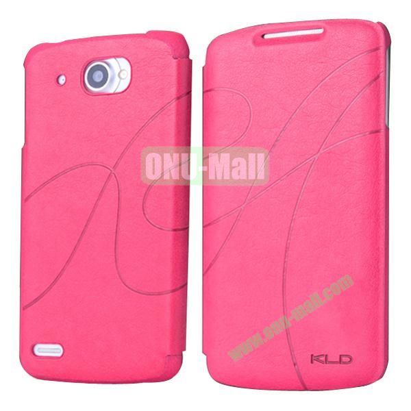 Luxury Style Stand Leather Case for Lenovo S920 (Rose)