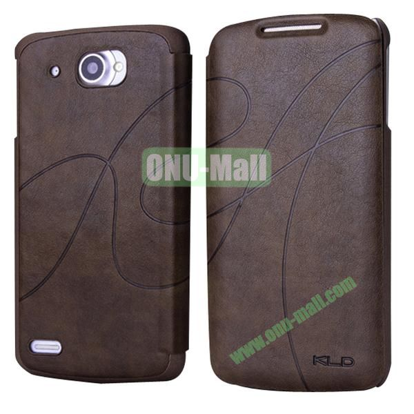 Luxury Style Stand Leather Case for Lenovo S920 (Coffee)