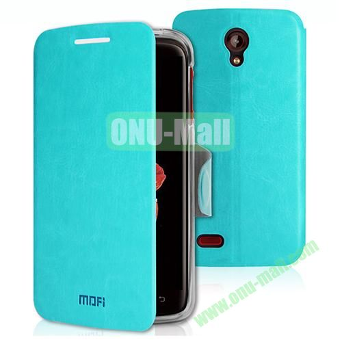 Mofi Leather Case for Lenovo S820 with Holder (Blue)