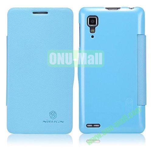 Nillkin Litchi Texture Flip Leather Case For Lenovo P780 with Smart Sleep Wake Function (Blue)