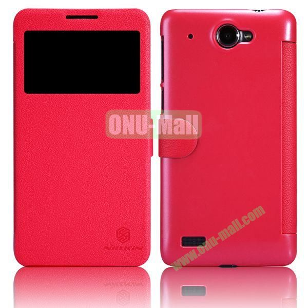 Nillkin Litchi Texture Caller ID Display Window Magnetic Leather Case for Lenovo S939 (Red)