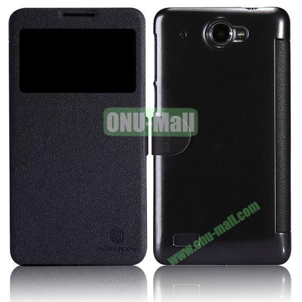 Nillkin Litchi Texture Caller ID Display Window Magnetic Leather Case for Lenovo S939 (Black)