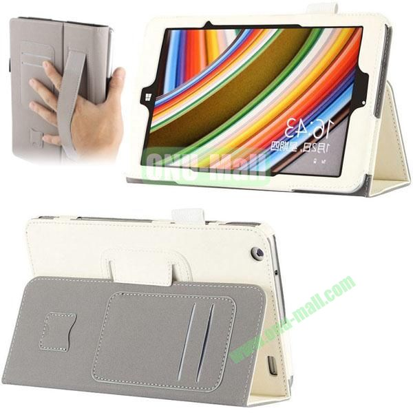 High Quality PU Leather Cover for Lenovo Miix 2 (White)