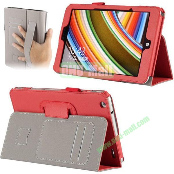 High Quality PU Leather Cover for Lenovo Miix 2 (Red)