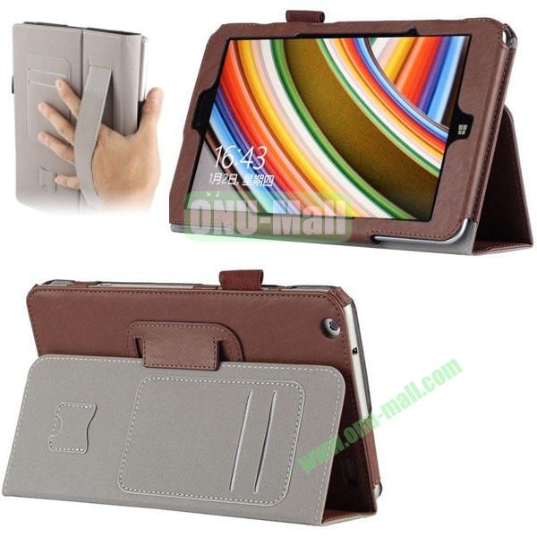 High Quality PU Leather Cover for Lenovo Miix 2 (Brown)