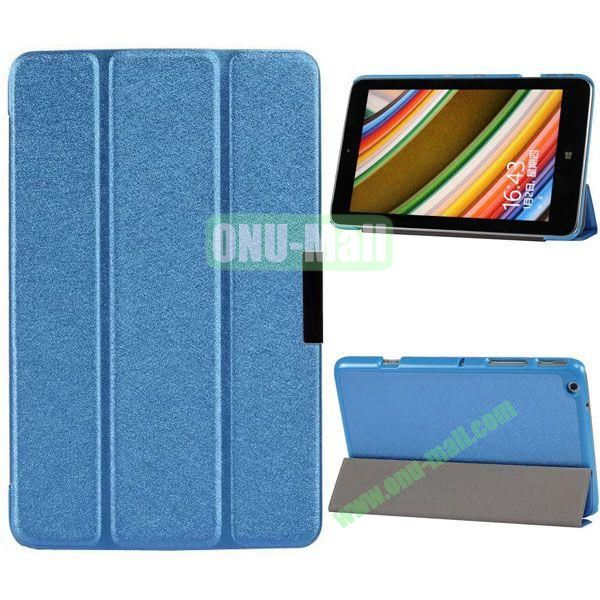 3-folding PU Leather Cover for Lenovo Miix 2 with Holder (Blue)