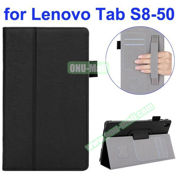 Smooth Texture Flip Leather Case for Lenovo Tab S 8-50 with Filco and Card Slots (Black)