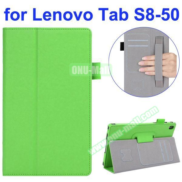 Smooth Texture Flip Leather Case for Lenovo Tab S 8-50 with Filco and Card Slots (Green)