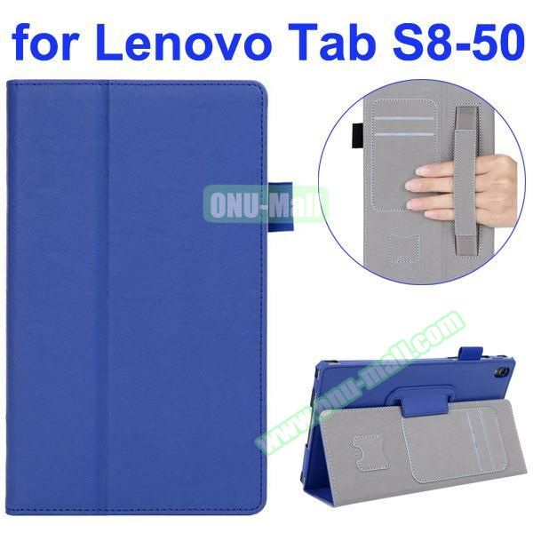 Smooth Texture Flip Leather Case for Lenovo Tab S 8-50 with Filco and Card Slots (Blue)