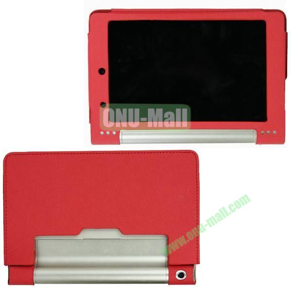 8-inch PU Material Leather Case for Lenovo Yoga B6000 (Red)