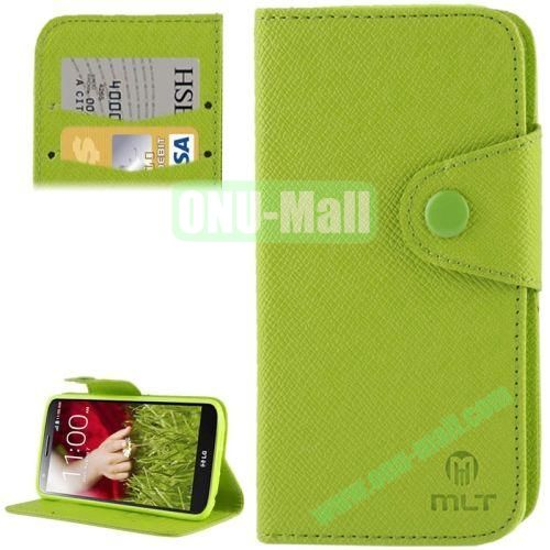 Leather Case for LG Optimus G2  D801  F320  F340L  LS980 with Credit Card Slot & Holder (Green)