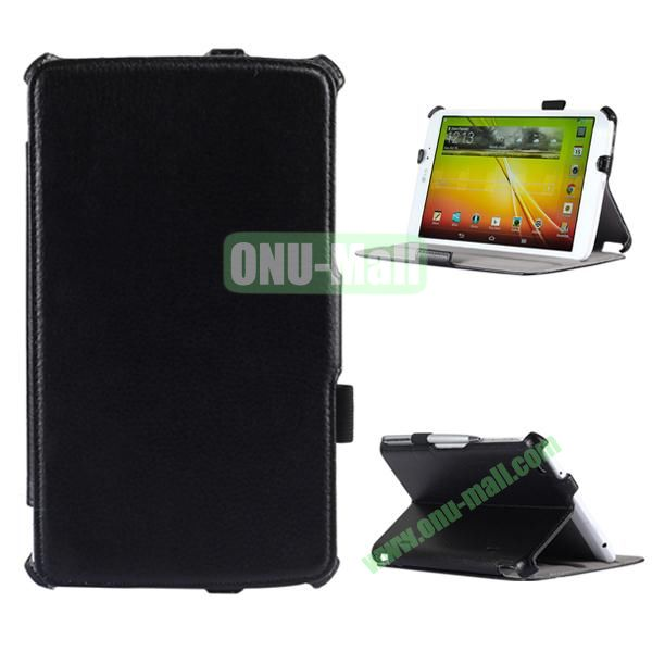 Thermal Styling Leather Case for LG G Pad 8.3  V500 with Elastic Hand Strap