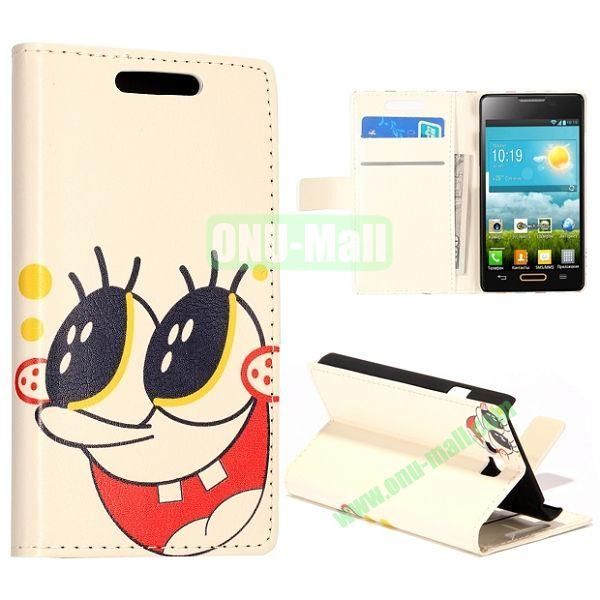Cartoon Pattern Wallet Style Leather Case with Card Slots and Holder for LG Optimus L9 II  D605