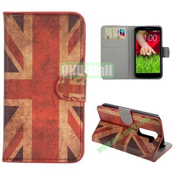 Stylish Pattern Wallet Style PC and PU Leather Case For LG G2 Mini D620 (UK Flag)