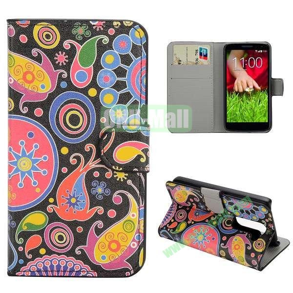 Stylish Pattern Wallet Style PC and PU Leather Case For LG G2 Mini D620 (Graffiti Sky)
