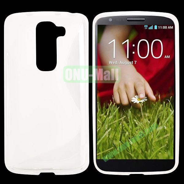S Shape TPU Case for LG G2 Mini D610 D618 D620 D620R (White)
