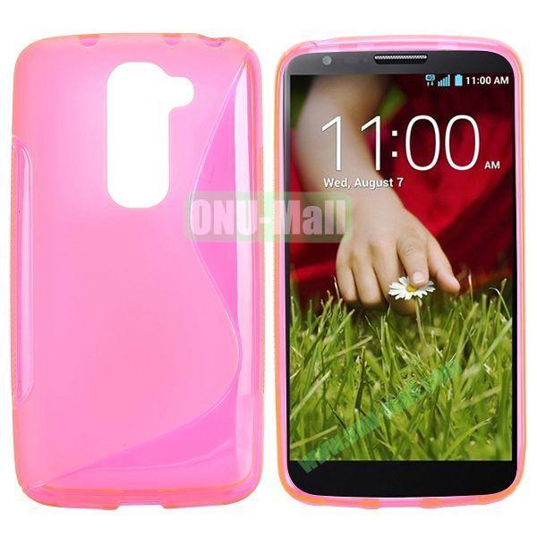 S Shape TPU Case for LG G2 Mini D610 D618 D620 D620R (Pink)