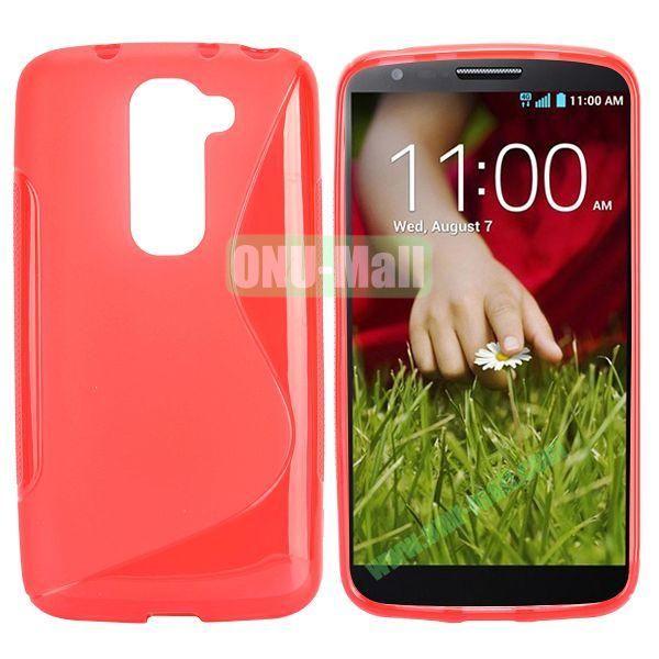 S Shape TPU Case for LG G2 Mini D610 D618 D620 D620R (Red)